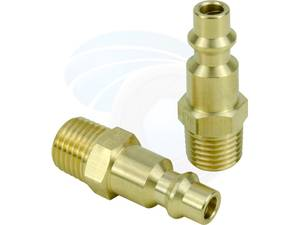 Brass Air Tool Fittings 1/4 NPT Male Milton M type Plug 727 Connector (Richmond) for sale  Vancouver