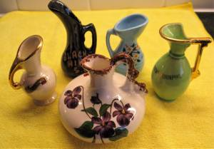 Vintage Miniature Souvenir Pitchers (114th and Pacific - Omaha), used for sale