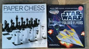 Used, Unused! StarWars Flyers, Paper Chess Craft Books for sale