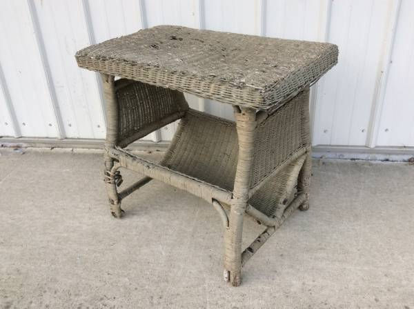 Unique wicker stand table