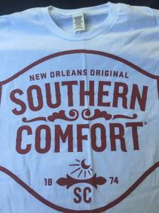 SOUTHERN COMFORT WHITE AND RED LOGO T-SHIRTS (BURNSVILLE) for sale