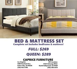 NEW FULL &QUEEN PLATFORM BED&MATTRESS SALE!EZ FINANCING!SEE ON DISPLAY (4300 OVERLAND AVE, CULVER CITY WWW.CAPRICEFURNITURE.COM) for sale