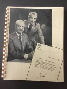 ABC News 1974 Press Booklet (Fletcher), used for sale