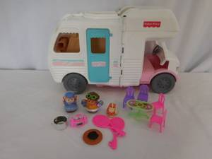 Fisher Price Dollhouse Loving Family Vacation Camper RV Motor Home + A (lake elsinore) for sale