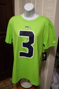 RUSSELL WILSON #3 - Nike Neon T-Shirt (Men's Med. and Women's Lg.) NEW (TACOMA) for sale  Seattle