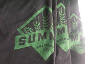 BRAND NEW SUMMIT LOGO AND BEER IS MY LIFE XL T-SHIRTS (BURNSVILLE), used for sale