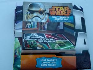 NEW Star Wars Collage Heat Transfer Accent Rug Yoda Darth Vader (Marblehead) $12