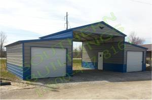 44x26' 100% QUALITY STEEL GARAGE STORAGE BUILDING BARN EQUIPMENT SHOP for sale
