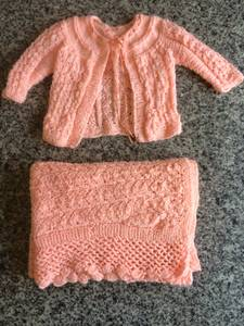 Baby Shower Gifts Newborn Infants Crocheted Sweaters Blankets Boots (Sacramento) for sale