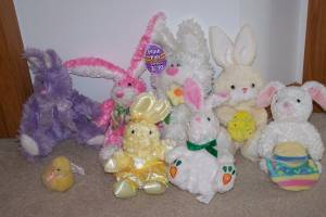 Lot of Stuffed Animal Bunnies and Easter Items (Ham Lake) for sale
