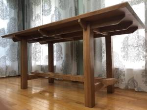 The Cypress Cross Halving Table (Clover) for sale