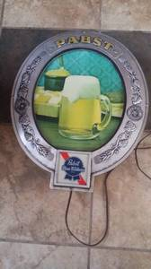 Used, Pabst Beer Sign (Glastonbury) for sale