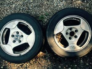 """Used, SAAB or Volvo 15"""" 2 Steel Winter Wheels with caps 2 Alloy (Beverly) for sale  Boston"""
