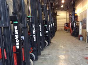 Forklift WAREHOUSE FORKLIFTS STAND UP NARROW AISLE (port coquitlam) for sale