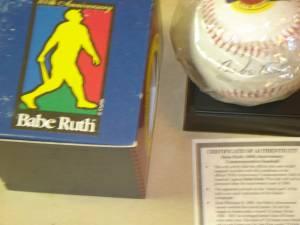 Babe Ruth 100th anniversary baseball w/ replica signature (HENRICO) for sale