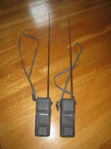 Vintage Claricon 2-Way Walkie Talkie Set in Original Leather Cases (Berlin, MA) for sale