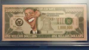Obama $1,000,000 Bill (Collectable) (Greenville) for sale