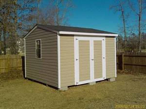 Storage Building  12 x 16 vinyl Building on Skids (Gold Point) $3400