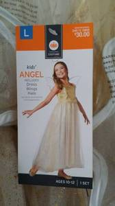[NEW w/tag] Kids angel costume includes dress wings halo. M L size (berkeley) for sale