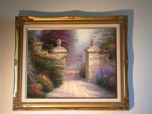 Thomas Kinkade painting on canvas-Open Gate $420