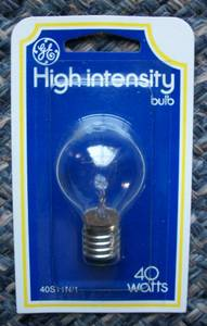 NEW GE High Intensity Appliance/Microwave Bulbs - 40W 120V - #40S11N (East Aurora), used for sale