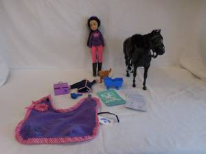 Used, Chad Valley Pony Parade Bundle Horse, Rider Doll, + Accessories Saddle (lake Elsinore) for sale