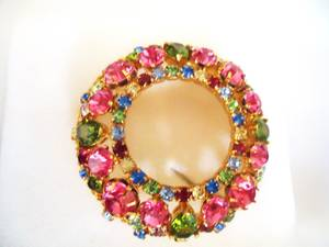 Large Swarovski Crystal Round Brooch / Lapel Pin - New (North York) for sale  Toronto