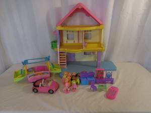 Fisher Price Loving Family My First Doll House + Camper + Car + access (lake elsinore) for sale