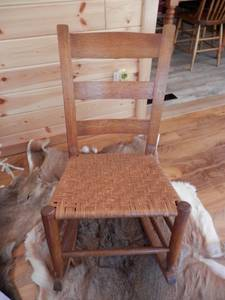 Antique Solid Oak Childs/Youth Rocking Chair (Wisconsin Rapids) for sale