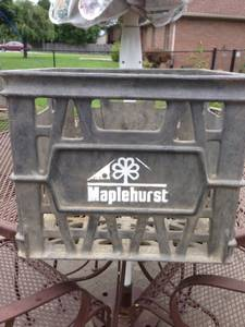 Antique Milk Crate, Maplehurst, Dairy, Plastic Vintage bottle crate (Greenwood, IN) for sale
