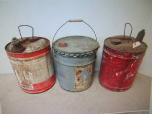 vintage 5 gallon cans, used for sale