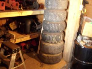 RIDING LAWN MOWER TIRES AND RIMS (BENTON RIDGE/FINDLAY) for sale