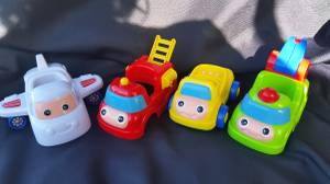 Electronic Sound CAR SET with Airplane Dump Truck Fire Truck Toy (tacoma) for sale  Seattle