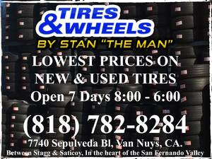 WE CARRY MANY OF THE MAJOR BRAND TIRES IN STOCK, VAN NUYS, FROM $40 (Van Nuys) for sale