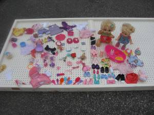 Used, Girl's Toy Lot: Dress Up, 17 Dolls , Disney Cinderella Castle (OBO on all or Priced as Listed) for sale