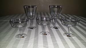 ANTIQUE CRYSTAL STEMWARE/GLASSES & PITCHER (SR51 for sale  Phoenix