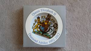 Queen Elizabeth II Diamond Jubilee 1952-2012 Plate (coquitlam center), used for sale  Vancouver
