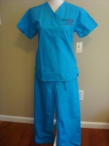 Used, Scrubs Uniform Nursing Costume Top Bottom Pants Blue Ridge CTC Student (Hedgesville, WV) for sale