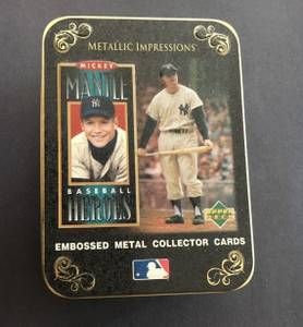 Mickey Mantle 1996 Upper Deck Baseball Heroes 5 Metallic Card Set (TACOMA) for sale  Seattle