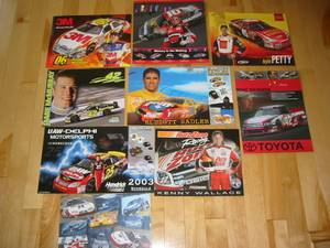 NASCAR Driver Hero Cards Signed Autographed (Apple Valley Lakeville) for sale