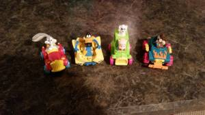 """Complete Set of Happy Meal Looney Tune """"Quack Up"""" Cars (Brunswick) for sale"""