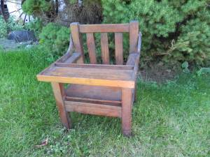 Mission Oak childs commode chair with shelf (Wyoming) for sale