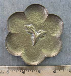 Vintage Hagenauer Pin Tray with Hammered Surface (Windsor, California), used for sale