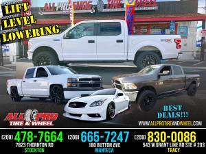 LOWERING KITS► LIFT KITS! LEVELING KITS! WHEELS! TIRES! WE FINANCE!!!! (WE FINANCE! ✅ NO CREDIT NEEDED) for sale