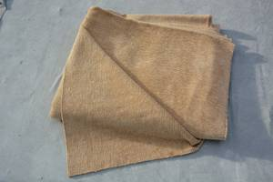 Used, UPHOLSTERY FABRIC MATERIAL HEAVY DUTY ~ FIVE YARDS ~ BEIGE TAN (Feasterville, PA) for sale