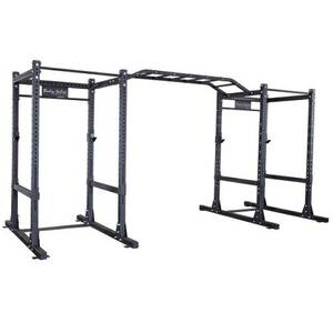 New Body Solid Commercial Free Weight Double Power Squat Rack Cage Rig (Frisco) for sale