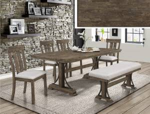 Quintas collection(SOLID WOOD) includes table, 4 chairs, and bench (Maple  Ridge), used for sale  Vancouver
