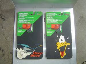 MUD FLAPS SPLASH GUARDS -- ROAD RUNNER -- DAFFY DUCK (COLUMBUS South West) for sale