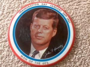 John F.  Kennedy Inauguration Day Badge (San Marcos) for sale