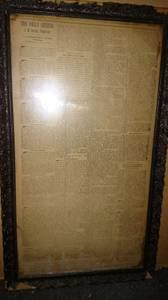 Antique Civil War Newspaper The Daily Citizen July 2 1863 Framed (Marblehead) for sale